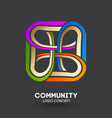 connecting people logo logo design company vector image