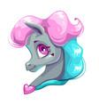 Cute cartoon little horse face