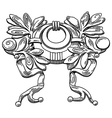 Decorative element of the facade vector image vector image