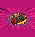 dynamite explosion bomb detonation retro pop art vector image