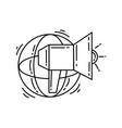 e-commerce digital marketing icon hand drawn icon vector image vector image