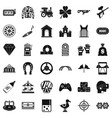 entertainment icons set simple style vector image vector image
