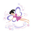 fairy flying with a magic wand vector image