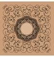 Floral elegant vintage label decor vector image vector image
