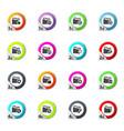 folders icons set vector image
