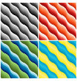 Four wavy seamless patterns vector image vector image