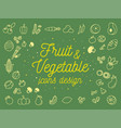 fruit and vegetable icons design set vector image vector image