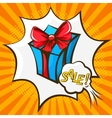 gift box in the style of pop art vector image vector image