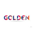golden colored rainbow word text suitable for vector image