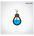Green and initiative concept vector image vector image