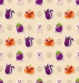 Halloween Seamless Texture with Colorful Flat vector image vector image