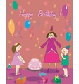 Happy Birthday Gift girl boy cake and fairy vector image vector image