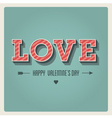 Happy valentines day card i love you font type vector | Price: 1 Credit (USD $1)
