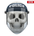 Human skull with police protect mask on vector image vector image