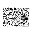 inky doodle wavy brush strokes collection vector image