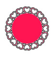 label with heart shapes vector image