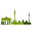 landscape city silhouette vector image vector image