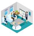 Lecture For Pregnant Women Isometric Composition vector image vector image