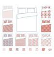 linen and bedding duvet textile patterns vector image vector image