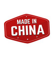made in china label or sticker vector image