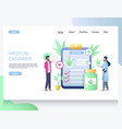 medical cannabis website landing page vector image