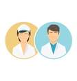 Medical clinic staff flat icons vector image