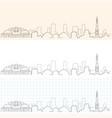 milwaukee hand drawn skyline vector image