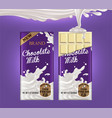 mockup of milk chocolate advertising two tiles of vector image vector image