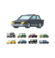 modern automobiles models flat vector image vector image