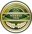 nettle tea gold label vector image vector image