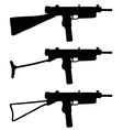 Old short automatic guns vector image vector image
