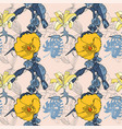 original seamless artistic flower pattern vector image