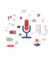 podcast icons vector image vector image