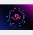 quiz test line icon select answer sign vector image vector image