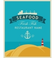restaurant or seafood store vector image vector image