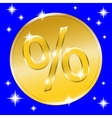 sale gold button vector image vector image