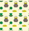 seamless pattern st patrick s day vector image