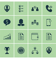 set of 16 management icons includes business deal vector image vector image