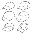 set of cap vector image