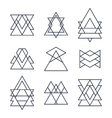 Set of geometric shapes for your design Trendy vector image vector image