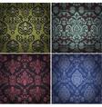 set vintage patterns vector image vector image