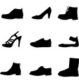 Shoes silhouettes vector image vector image