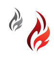 simple flame vector image vector image