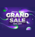 special offer grand sale banner and back ground vector image vector image