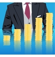 Stacking profits business concept vector image