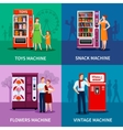 Stylish Colorful Vending Machines vector image vector image