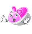 surprised cute baby shoes in shape cartoon vector image