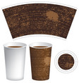 template paper cup with the texture of manuscript vector image vector image