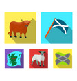 the state flag of andreev scotland the bull the vector image vector image