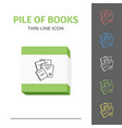 thin lined book icon vector image vector image